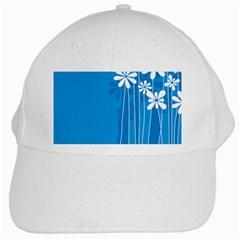 Flower Blue White Cap