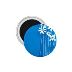 Flower Blue 1 75  Magnets