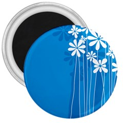 Flower Blue 3  Magnets