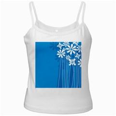 Flower Blue Ladies Camisoles