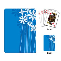Flower Blue Playing Card
