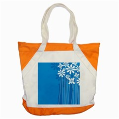 Flower Blue Accent Tote Bag