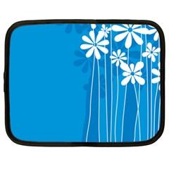 Flower Blue Netbook Case (xxl)