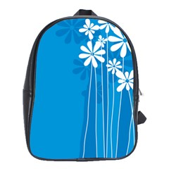 Flower Blue School Bag (large)