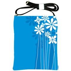 Flower Blue Shoulder Sling Bags