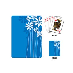 Flower Blue Playing Cards (mini)