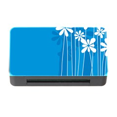 Flower Blue Memory Card Reader With Cf