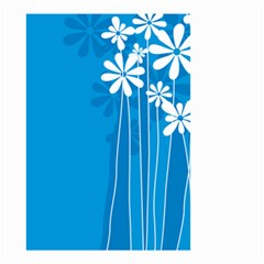 Flower Blue Small Garden Flag (two Sides)