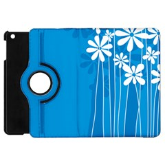 Flower Blue Apple Ipad Mini Flip 360 Case