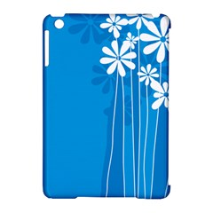 Flower Blue Apple Ipad Mini Hardshell Case (compatible With Smart Cover)