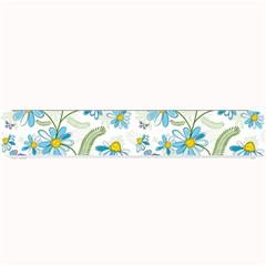 Flower Blue Butterfly Leaf Green Small Bar Mats