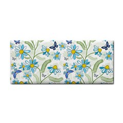Flower Blue Butterfly Leaf Green Cosmetic Storage Cases