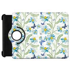 Flower Blue Butterfly Leaf Green Kindle Fire Hd 7