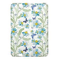 Flower Blue Butterfly Leaf Green Kindle Fire Hd 8 9