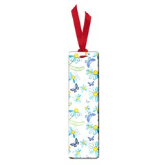 Flower Blue Butterfly Leaf Green Small Book Marks