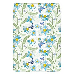 Flower Blue Butterfly Leaf Green Flap Covers (l)