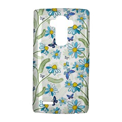 Flower Blue Butterfly Leaf Green Lg G4 Hardshell Case