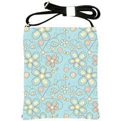 Flower Blue Butterfly Bird Yellow Floral Sexy Shoulder Sling Bags
