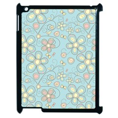 Flower Blue Butterfly Bird Yellow Floral Sexy Apple Ipad 2 Case (black)