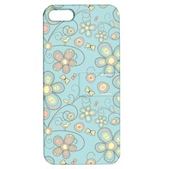 Flower Blue Butterfly Bird Yellow Floral Sexy Apple Iphone 5 Hardshell Case With Stand