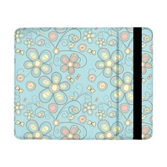 Flower Blue Butterfly Bird Yellow Floral Sexy Samsung Galaxy Tab Pro 8 4  Flip Case