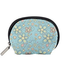 Flower Blue Butterfly Bird Yellow Floral Sexy Accessory Pouches (small)