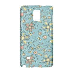 Flower Blue Butterfly Bird Yellow Floral Sexy Samsung Galaxy Note 4 Hardshell Case