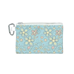 Flower Blue Butterfly Bird Yellow Floral Sexy Canvas Cosmetic Bag (s)