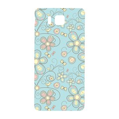 Flower Blue Butterfly Bird Yellow Floral Sexy Samsung Galaxy Alpha Hardshell Back Case
