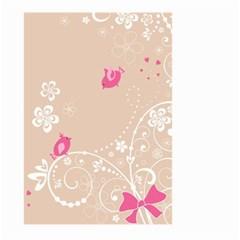 Flower Bird Love Pink Heart Valentine Animals Star Large Garden Flag (two Sides)