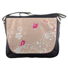 Flower Bird Love Pink Heart Valentine Animals Star Messenger Bags