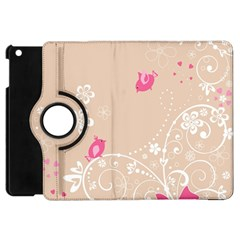 Flower Bird Love Pink Heart Valentine Animals Star Apple Ipad Mini Flip 360 Case