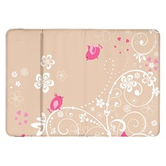 Flower Bird Love Pink Heart Valentine Animals Star Samsung Galaxy Tab 8 9  P7300 Flip Case