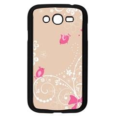 Flower Bird Love Pink Heart Valentine Animals Star Samsung Galaxy Grand Duos I9082 Case (black)