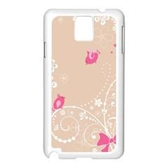 Flower Bird Love Pink Heart Valentine Animals Star Samsung Galaxy Note 3 N9005 Case (white)
