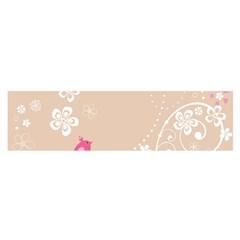Flower Bird Love Pink Heart Valentine Animals Star Satin Scarf (oblong)