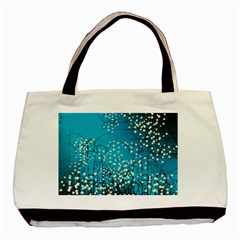 Flower Back Leaf River Blue Star Basic Tote Bag (two Sides)