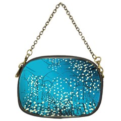 Flower Back Leaf River Blue Star Chain Purses (two Sides)