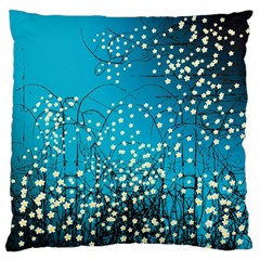 Flower Back Leaf River Blue Star Large Cushion Case (one Side)