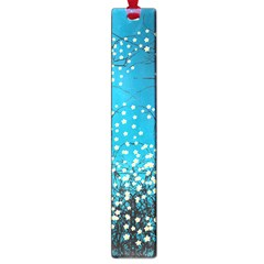 Flower Back Leaf River Blue Star Large Book Marks