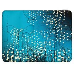 Flower Back Leaf River Blue Star Samsung Galaxy Tab 7  P1000 Flip Case