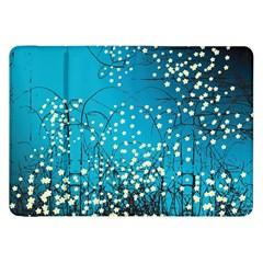Flower Back Leaf River Blue Star Samsung Galaxy Tab 8 9  P7300 Flip Case