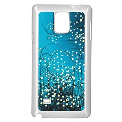 Flower Back Leaf River Blue Star Samsung Galaxy Note 4 Case (white)