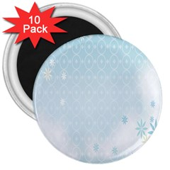 Flower Blue Polka Plaid Sexy Star Love Heart 3  Magnets (10 Pack)