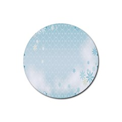 Flower Blue Polka Plaid Sexy Star Love Heart Rubber Round Coaster (4 Pack)