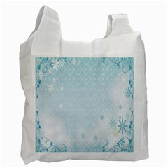 Flower Blue Polka Plaid Sexy Star Love Heart Recycle Bag (one Side)