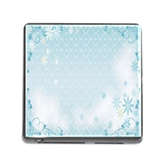 Flower Blue Polka Plaid Sexy Star Love Heart Memory Card Reader (square)