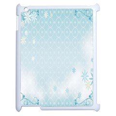 Flower Blue Polka Plaid Sexy Star Love Heart Apple Ipad 2 Case (white)