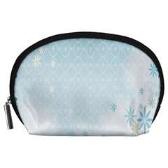 Flower Blue Polka Plaid Sexy Star Love Heart Accessory Pouches (large)