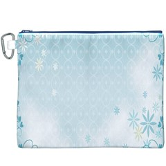 Flower Blue Polka Plaid Sexy Star Love Heart Canvas Cosmetic Bag (xxxl)
